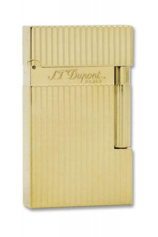 S.T. Dupont Ligne 2 vergoldet längsgerippt