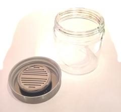 Guy Janot Tobacco pot glass / aluminum