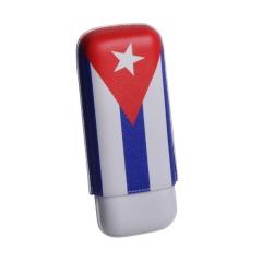 Elie Bleu Cuba Flag Case for 2 cigars