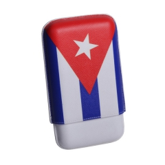 Elie Bleu Cuba Flag Case for 3 cigars