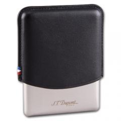 S.T. Dupont Cigar Case metal/lether black