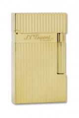 S.T. Dupont Ligne 2 gilded longitudinally ribbed