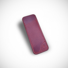 Les Fines Lames leather sheath Cherry Red Racing