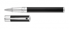 S.T. Dupont rollerball pen black with chrome finish