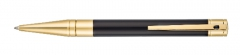S.T. Dupont ballpoint pen black with yellow gold finish
