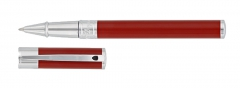 S.T. Dupont rollerball pen red with chrome finish