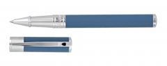 S.T. Dupont rollerball pen shark blue with chrome finish